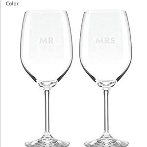 Kate Spade Mr and Mrs Wine Glasses